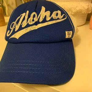 Billabong blue & white Aloha trucker hat